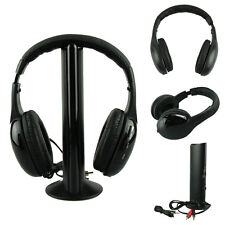 5EN1 Inalámbrico Headphone Cascos Audio Sans Inhalámbrico cascos Hi-Fi Radio FM
