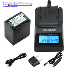 Kastar Battery LCD Fast Charger for Sony NP-FV100 & FDR-AX33 FDR-AX53 NEX-VG10