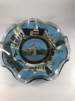 Vintage 1960s Walt Disney Productions USA Fluted Glass Disneyland Souvenir Bowl