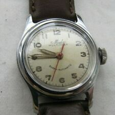 MIDO MULTIFORT SUPERAUTO 220 VINT SS SCREWBACK WP 17J MOD 1941 MILIT DIAL AS IS
