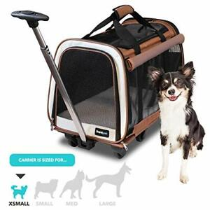 FrontPet Rolling Pet Travel Carrier - Travel Carrier with 6 Removable Wheels ...