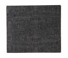 modern-twist Silicone Placemat Linen Pattern Black on Grey Line... Free Shipping