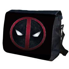 Deadpool Comic School College Personalised Messenger Bag