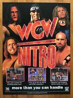 WCW Nitro PS1 Playstation 1 PC 1998 Poster Ad Art Hulk Hogan Sting WWF WWE Rare