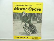 Jan 1963 Motorcycle Magazine Triumph Sports Cub Norton BSA Vic Willoughby L10871