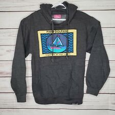 Pink Dolphin Legend At Our Craft Sailboat Pullover Hoodie Sweatshirt Medium USA