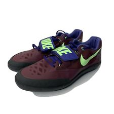 Nike Zoom Sd 4 Shotput Discus Throw Shoes Bordeaux Black Mens Sz 12.5 685135-600