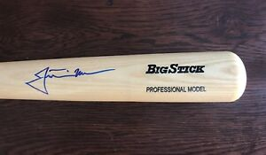 Justin Morneau Autograph Baseball BAT JSA Certified Signed Minnesota Twins