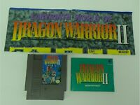 Dragon Warrior II Nintendo NES WITH MANUAL AND POSTER MAP WOW GREAT LABEL