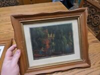 Paul Detlefsen Summertime PICTURE FRAME CARVED WOOD GOLD GLASS 9.5X7.5/12X20