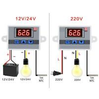 W3002 Digital Temperature Controller 10A Thermostat Control Switch+Probe Sensor