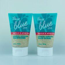 2-Pack Bath & Body Works True Blue Spa Apricot & White Tea Smoothing Face Scrub