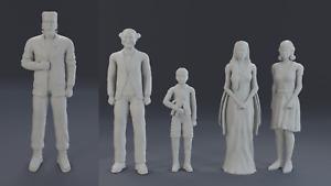 The Munsters 1/18 Herman, Lily, Grandpa, Marilyn and Eddie Figure Set 3D Printed