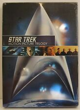 STAR TREK MOTION PICTURE TRILOGY SEALED WIDESCREEN REMASTERED KAHN SPOCK VOYAGE