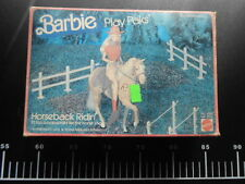 VINTAGE  BARBIE DOLL PLAY PAKS HORSEBACK RIDIN' 4090 Mattel