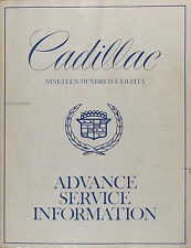 1980 Cadillac Advance Service Information Manual 80 Deville Eldorado Seville