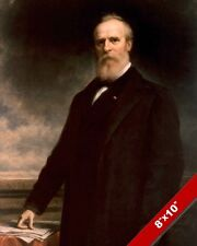 RUTHERFORD B HAYES US PRESIDENT PORTRAIT AMERICAN PAINTING ART REAL CANVAS PRINT