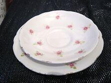 Royal Staffordshire 7x tea plates & 8x saucers pink rose pattern
