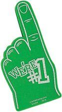 Green- We're Number #1 Finger Team Color Cheerleading Foam Hand (Green)