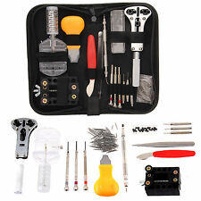 144Pc Professional Watchmakers Watch Repair Kit Tools Plus Pins In Carry Case