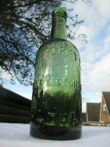 VINTAGE 1 PINT BEER BOTTLE W. FORSYTH WINE MERCHANT OLDHAM (MANCHESTER)
