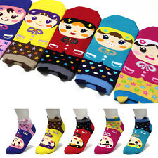 5 Pairs Raincoat Girl Women Socks Big Kids Fashion Cute Cartoon Character Socks