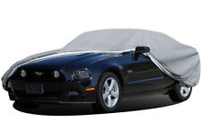"Gray Car Cover Outdoor For Ford Mustang 204"" L Water Resistant Fleece Lining"