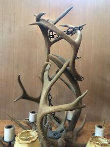 Truly Unique Handmade Deer & Elk Antler Chandelier