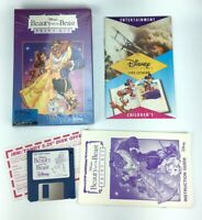 Beauty and the Beast Print Kit, Disney IBM Tandy Version PC Floppy Disk Big Box