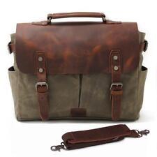 Genuine Leather Tela Spalla Messenger Bag 15 in (ca. 38.10 cm) Laptop Impermeabili Crossbody