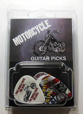 """""""MOTORCYCLE"""" Guitar Pick Pack, 6 Picks .71mm Clamshell, pics, plectrums"""