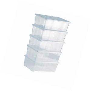 Grizzly Aufbewahrungsboxen 5 x 5 L mit Deckel transparent - Klarsichtboxen stape