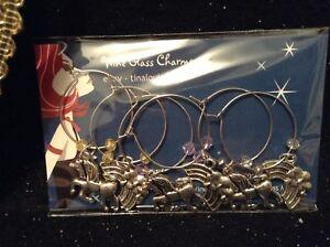 Wine Glass Charms - Set of 6 - Unicorns and Rainbows