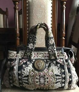 GUCCI EMBROIDERED TAPESTRY HYSTERIA HANDBAG