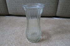 Hoosier Vase  Clear Glass Panel Diamond Design Vintage 4088-A