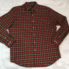 Lyle & Scott Men's Plaid L/S Button Down Shirt Size L 100% Combed Cotton