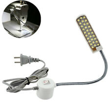 1pc White Sewing Machine 30 LED Bulbs Light Lamp Magnetic Base Flexible Consew