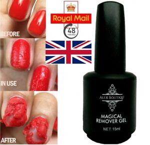 Alex Boutiqu 15ml NEW Magic Nail Soak Off Hard Gel Burst Remover Strong UK