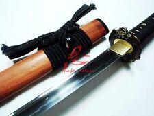 battle ready japanese katana sword ox tsuba clay tempered sanmai blade sharpened