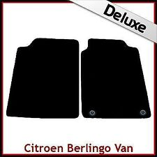 Citroen Berlingo Van Mk1 1996-2007 2-Clips Tailored LUX 1300g Carpet Mats BLACK
