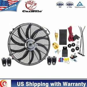 16Inch Electric Cooling Fans W Thermostat Kit for Ford Mustang 3500CFM 5.7L 2006