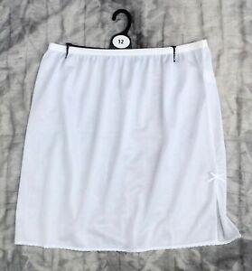 White Underskirt Waist slip 18 Inch with side / back split sizes 18 22