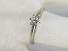 Gold Engagement Ring 7 3/4 .33ct Clean Solitaire Diamond 14k