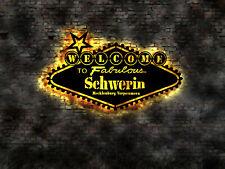 Mit Wunschtext  Welcome Willkommen Schild z.B. Schwerin Mecklenburg Vorpommern
