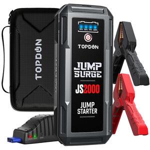 Portable 12V USB Car Jump Starter 2000A Peak Battery Booster Power Pack Bank UK