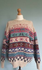 Rare Vintage Chapter House Jumper / Sweater 100% Wool -Size Large