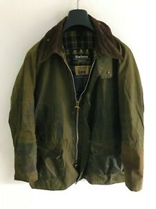 Mens Barbour Bedale wax jacket Green coat 42 in size Medium/ Large M/L #9