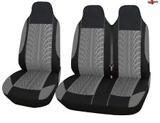 Vw Transporter T5 T4 Caravelle Tyre Design Grey Soft Fabric Van Seat Covers 2+1