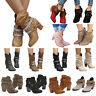 Womens High Heel Buckle Ankle Boots Pointed Toe Booties Autumn Winter Shoes Size