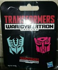 EXCLUSIVE PIN SET Transformers WFC War for Cybertron Ark Autobot Decepticon Logo